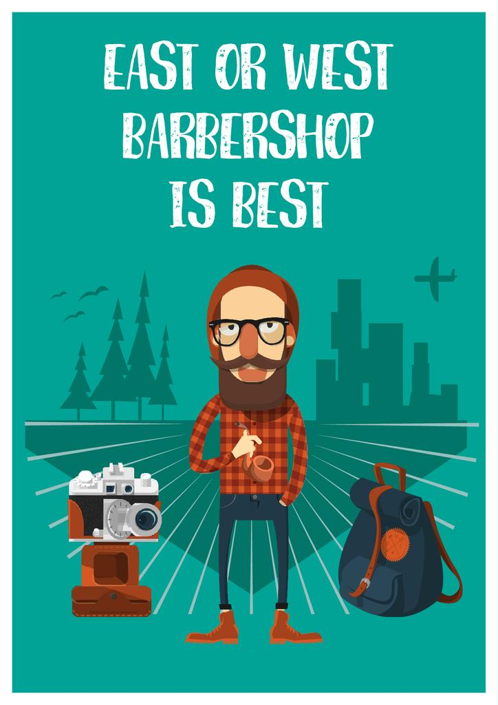 Barbershop Offer in cartoon illustration — Crear un diseño