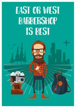 Barbershop cartoon poster