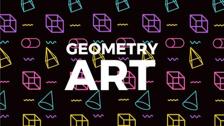 Ontwerpsjabloon van Full HD video van Moving Geometric Figures on Black