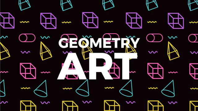 Szablon projektu Moving Geometric Figures on Black Full HD video