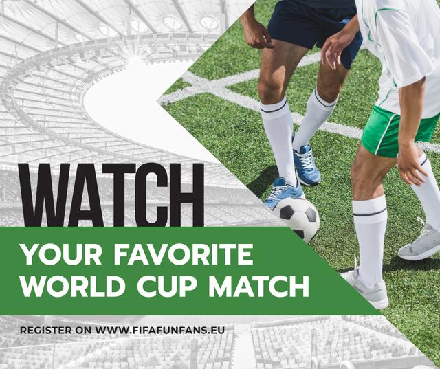 Modèle de visuel Soccer Match Announcement Players on Field - Facebook