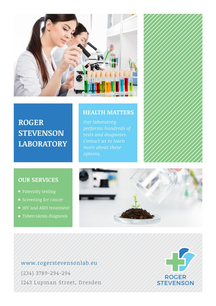 Laboratory services advertisement — Maak een ontwerp
