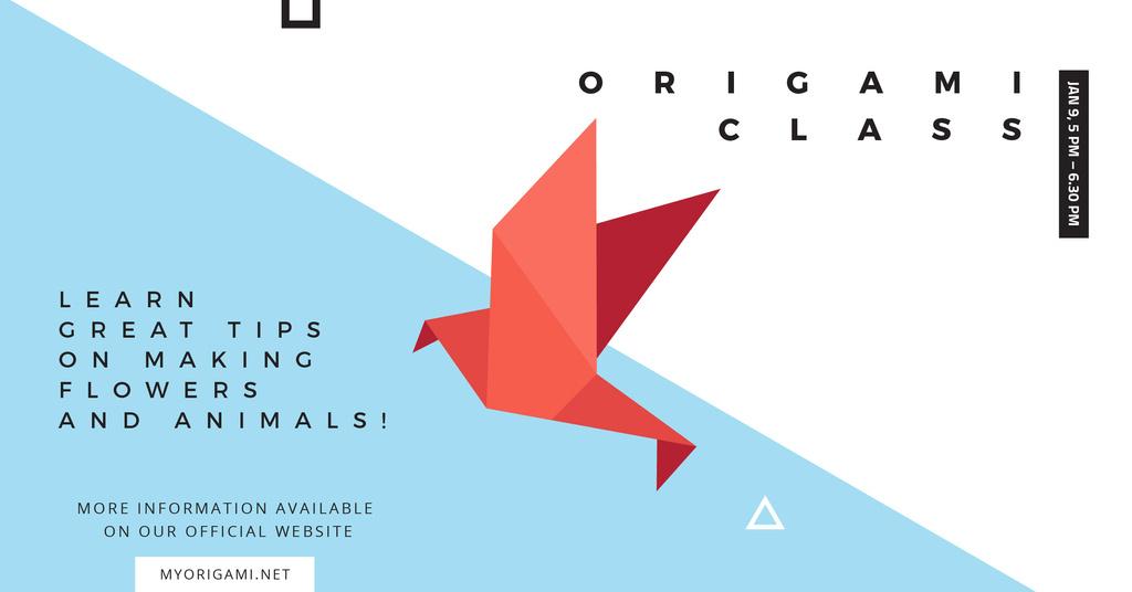 Origami class Ad with Paper Bird — Создать дизайн