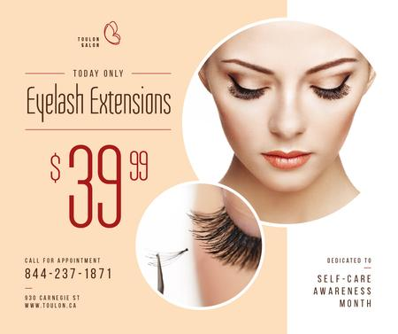 Template di design Self-Care Awareness Month Eyelash Extensions Offer Facebook