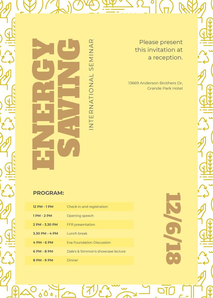 Energy saving technologies seminar — Create a Design