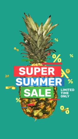 Modèle de visuel Summer Sale Rotating Raw Pineapple - Instagram Video Story