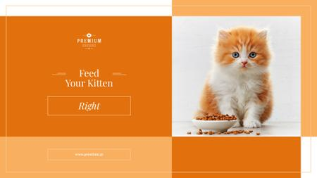 Template di design Cute Cat with Bowl Presentation Wide