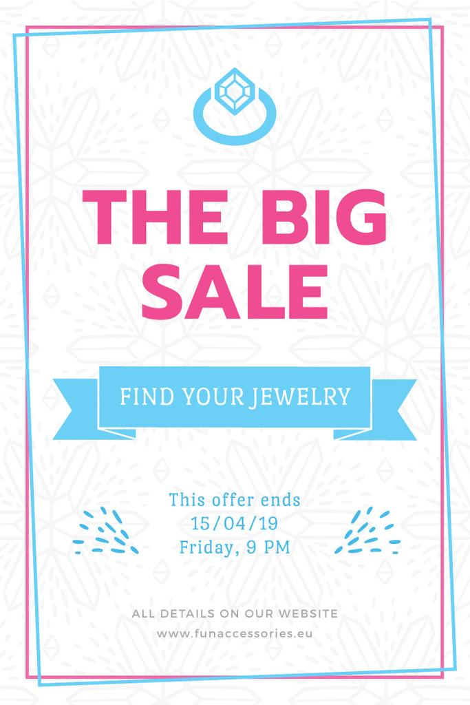 Jewelry Sale Advertisement with Shiny Chrystal — Crear un diseño
