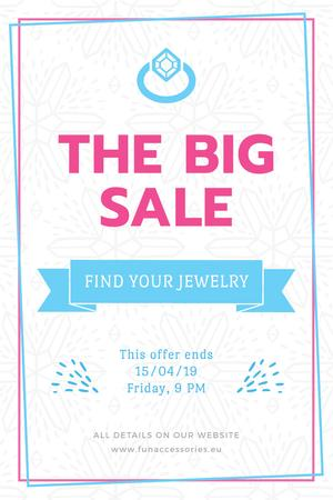 Jewelry Sale Advertisement with Shiny Chrystal Pinterest Modelo de Design