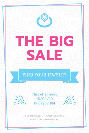 Jewelry Sale Advertisement with Shiny Chrystal Pinterest – шаблон для дизайна