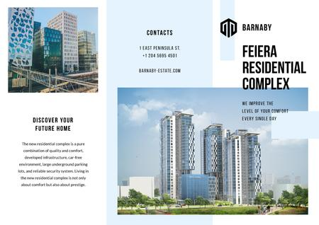 Residential Complex Ad with Modern Houses Brochure Modelo de Design