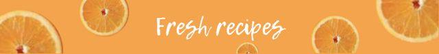 Orange Recipe ideas Leaderboard Tasarım Şablonu