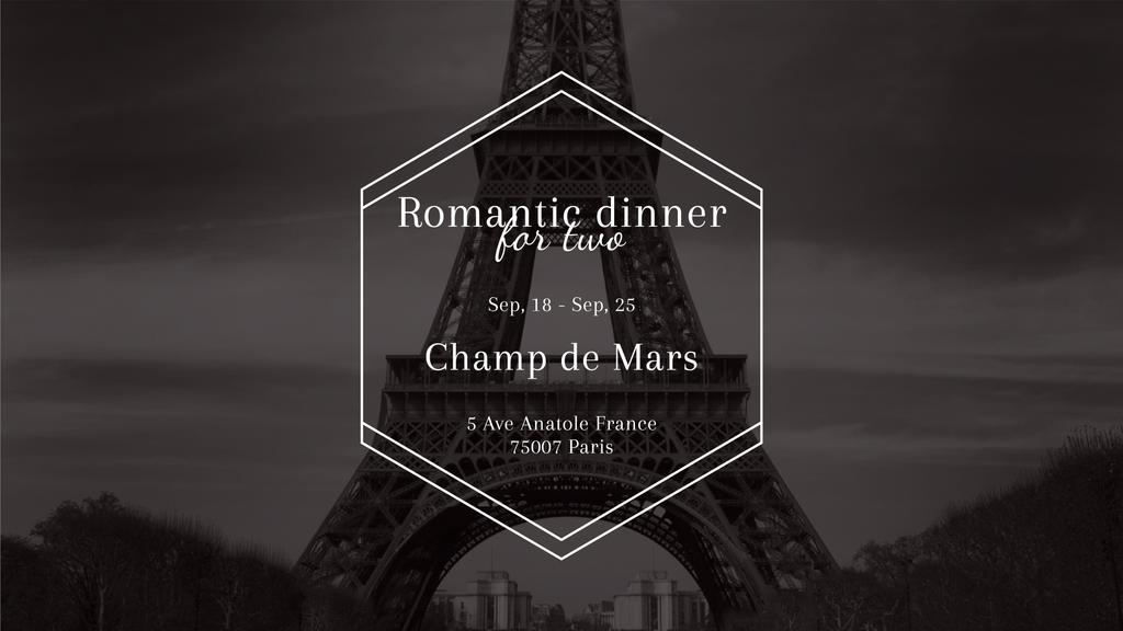 Romantic dinner for two in Paris — Create a Design