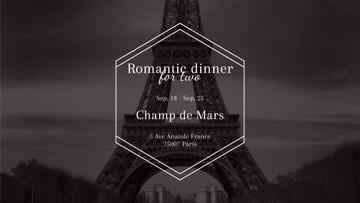 Romantic dinner for two in Paris