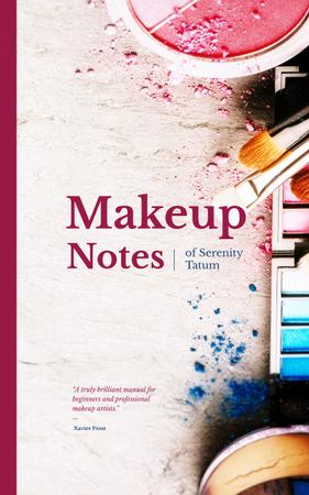 Plantilla de diseño de Makeup cosmetics set Book Cover