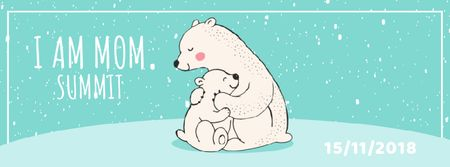 Template di design Polar Bear Hugging Its Mom Facebook Video cover