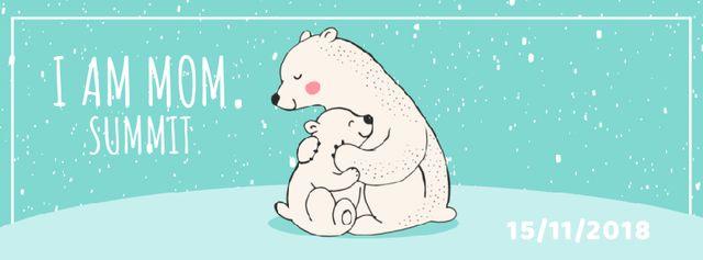 Designvorlage Polar Bear Hugging Its Mom für Facebook Video cover