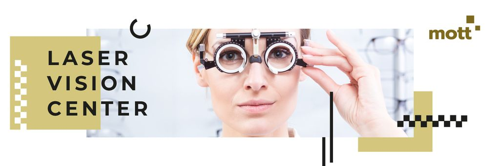 Female ophthalmologist in clinic — Create a Design