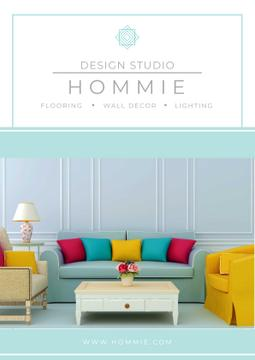 Design studio advertisement with Bright Interior
