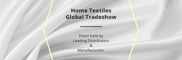 Home Textiles Events Announcement White Silk | Email Header Template