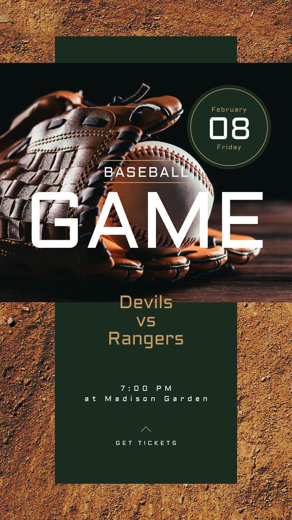 Baseball glove and ball — Créer un visuel