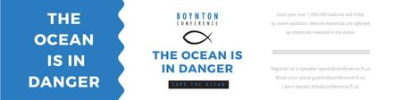 Ontwerpsjabloon van Twitter van Boynton conference the ocean is in danger
