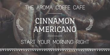 Aroma coffee cafe advertisement