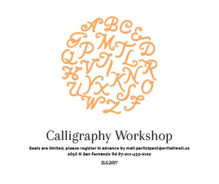 Ontwerpsjabloon van Medium Rectangle van Calligraphy workshop poster