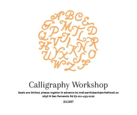 Calligraphy workshop poster Medium Rectangle Modelo de Design