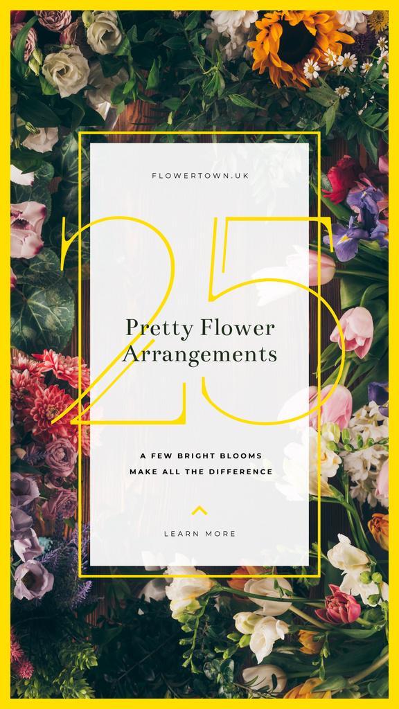 Frame with beautiful flowers — Создать дизайн