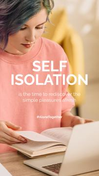 #AloneTogether Woman engaging in self-education