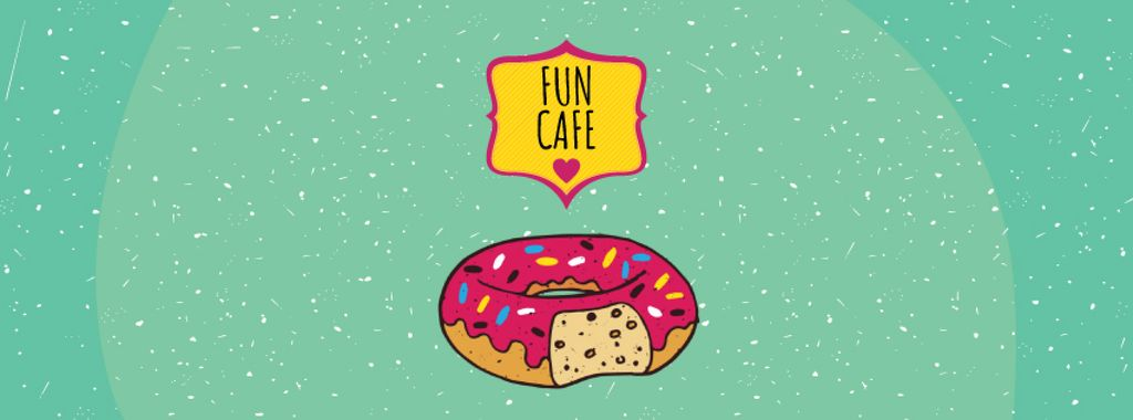 Delicious pink donut — Создать дизайн