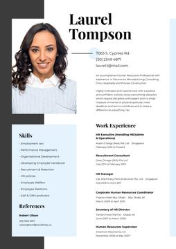 Human resources specialist skills and experience
