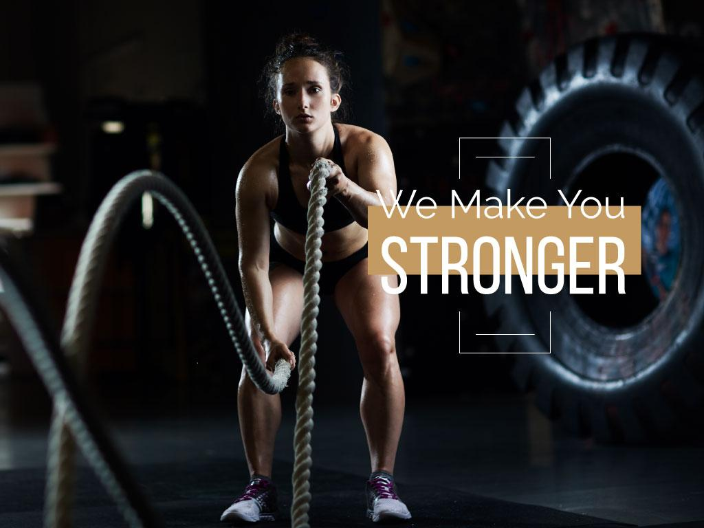 We make you stronger poster — Crear un diseño