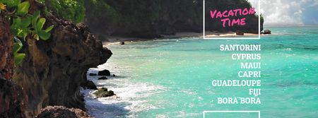 Designvorlage Turquoise sea water at tropical coast für Facebook Video cover
