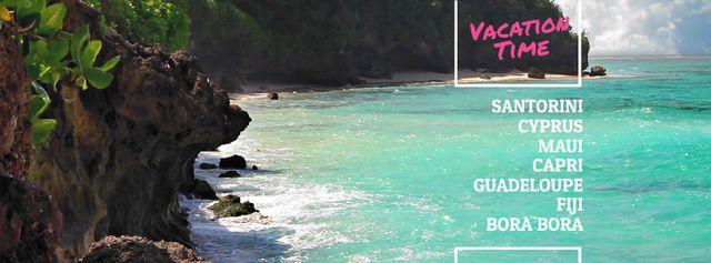 Modèle de visuel Turquoise sea water at tropical coast - Facebook Video cover