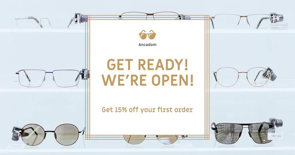 Glasses Store Opening Announcement — Crea un design