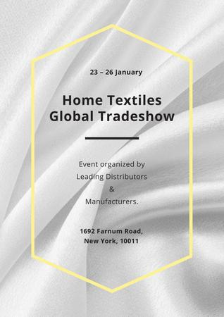 Home textiles global Tradeshow Poster – шаблон для дизайну