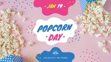 Popcorn Day Celebration Hot Popcorn in Carton