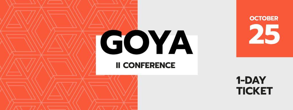 Technology Conference on orange rhombuses - Vytvořte návrh
