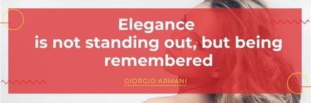 Citation about Elegance with Attractive Girl Email header Tasarım Şablonu