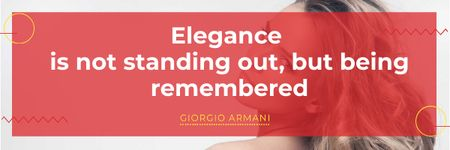 Citation about Elegance with Attractive Girl Email header Modelo de Design