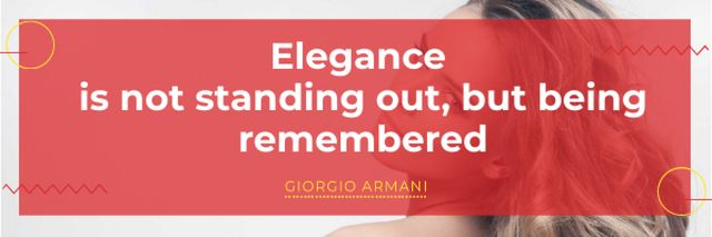 Template di design Citation about Elegance with Attractive Girl Email header