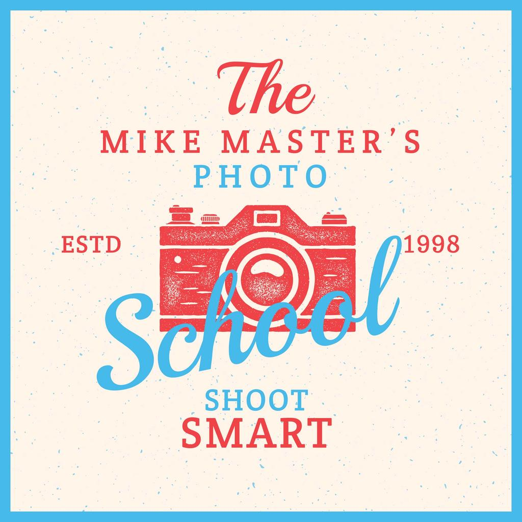 Photo School Ad Stamp of Camera — Créer un visuel