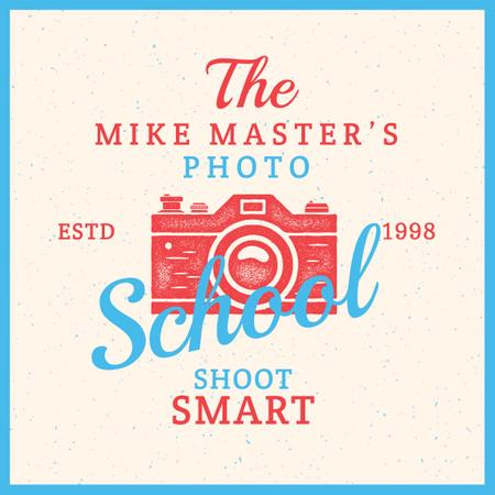 Photo School Ad Stamp of Camera Instagram AD Modelo de Design