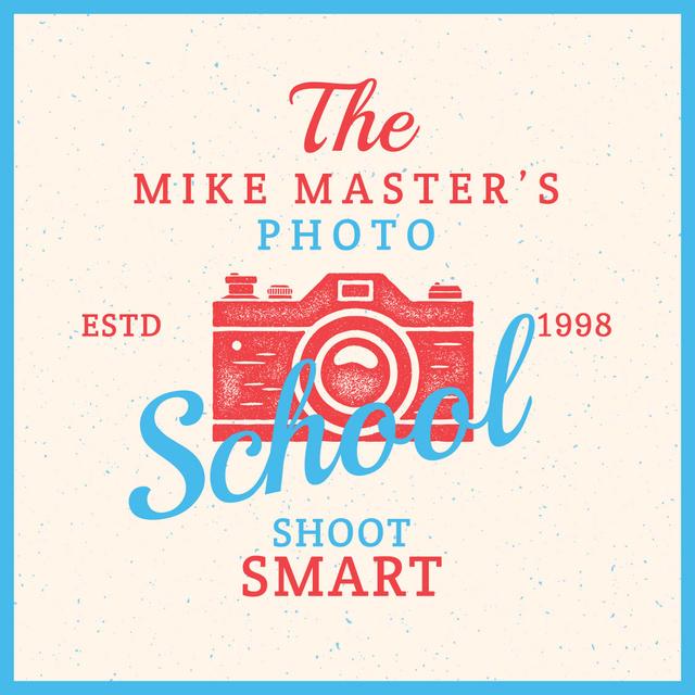 Plantilla de diseño de Photo School Ad Stamp of Camera Instagram AD