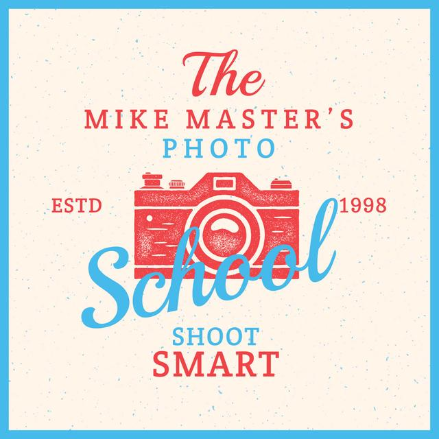 Photo School Ad Stamp of Camera Instagram AD Design Template