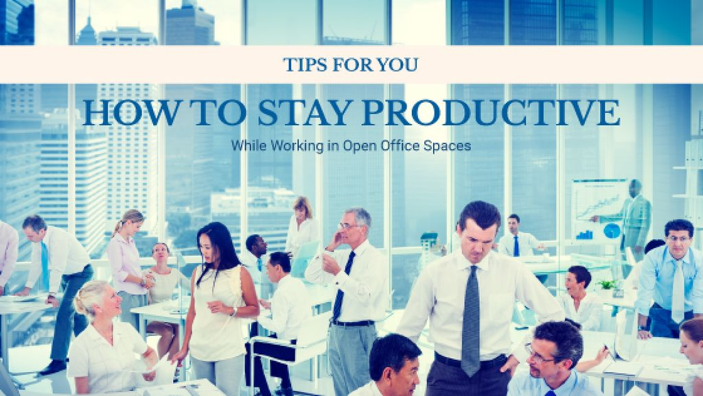 How to stay productive tips poster — Créer un visuel