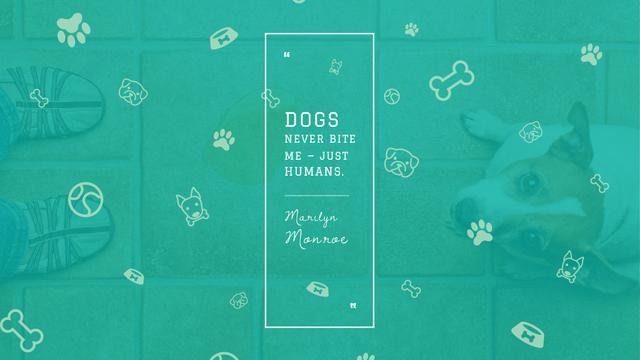 Dogs Quote with cute Puppy Title Design Template