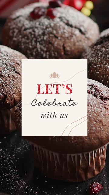 Winter Greeting Sweet Chocolate Cookies Instagram Video Story Modelo de Design